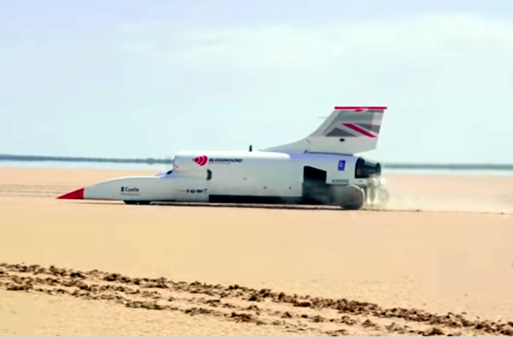 Coche supersónico del equipo británico Bloodhound Land Speed Record (Bloodhound LSR). /Foto: www.bloodhoundlsr.com