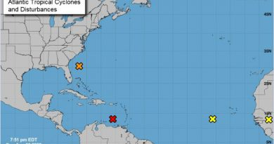 Mapa: National Hurricane Center